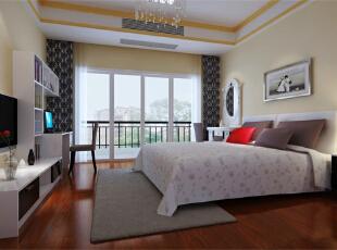 ,128平,10万,欧式,三居,卧室,米黄色,