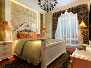 ,60平,5万,新古典,两居,卧室,黄白,