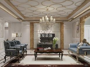 ,170平,8万,新古典,三居,客厅,黄白,