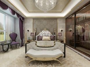 ,170平,8万,新古典,三居,卧室,灰白,