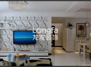 石家庄天海誉天下90㎡两室两厅户型现代简约效果图案例,90平,4万,现代,两居,客厅,白色,