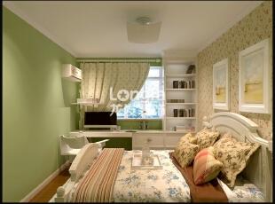 石家庄天海誉天下90㎡两室两厅户型现代简约效果图案例,90平,4万,现代,两居,卧室,黄白,绿色,