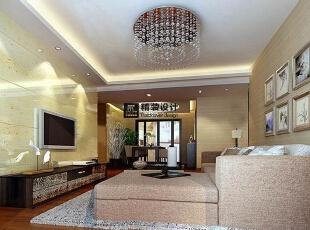 西雅图130平方三室两厅现代风格装修效果图 客厅,130平,9万,中式,三居,客厅,