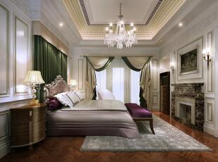 ,80平,120万,现代,三居,卧室,绿色,白色,