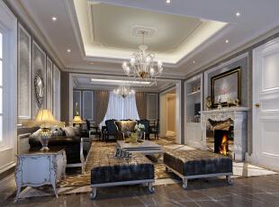,80平,120万,现代,三居,餐厅,客厅,浅棕色,灰白,