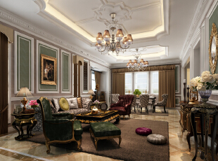 ,80平,120万,现代,三居,客厅,浅棕色,绿色,