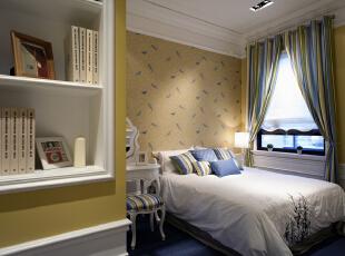 儿童房:低调而素雅的色彩相伴左右,天然环保的材质作为铺垫,传统的欧式雕刻和铁艺装饰为动力,浪漫的装饰作为点缀,221平,30万,欧式,三居,卧室,黄白,
