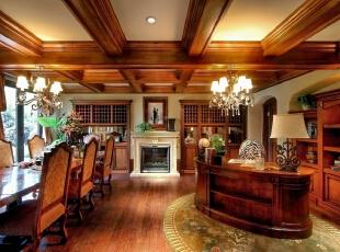 ,美式,别墅,中建红杉溪谷,餐厅,原木色,黄色,