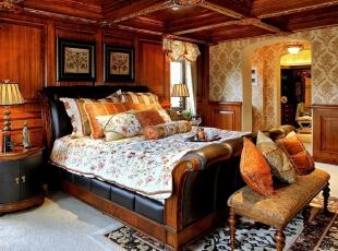 ,美式,别墅,中建红杉溪谷,卧室,原木色,黄色,