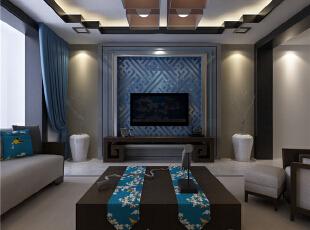 ,139平,5万,中式,三居,客厅,原木色,