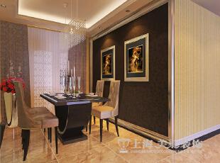 升龙又一城143平4室2厅简欧风格装修方案——餐厅装修效果图,143平,6万,欧式,四居,餐厅,褐色,黄白,