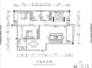 升龙又一城143平四室两厅简欧风格装修户型图,143平,6万,欧式,四居,
