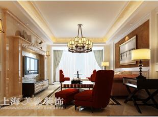 永威五月花城170平四室两厅简欧风格装修案例——客厅装修效果图,170平,12万,欧式,四居,客厅,棕色,黄白,