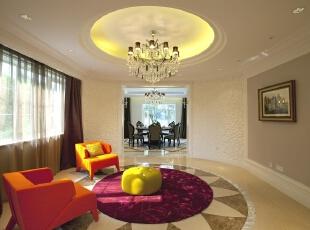 小型会客室,别墅简欧风格,别墅装修风格,别墅软装设计,北京室内设计,装修风格,休闲室,浅棕色,白色,