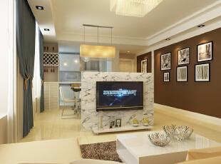 ,75平,8万,现代,两居,客厅,白色,