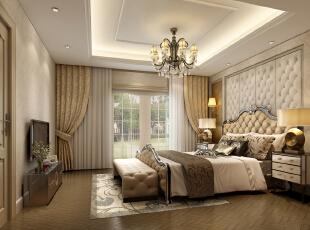 ,160平,32万,欧式,四居,卧室,黄色,