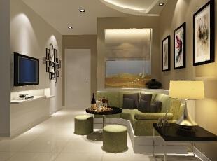 ,55平,6万,两居,现代,客厅,黄色,
