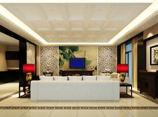 ,250平,6万,四居,中式,客厅,黄色,