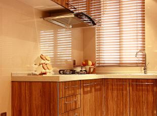 ,60平,6万,现代,一居,厨房,原木色,