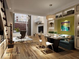 ,120平,40万,现代,两居,餐厅,绿色,
