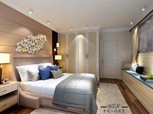 ,120平,40万,现代,两居,卧室,黄色,