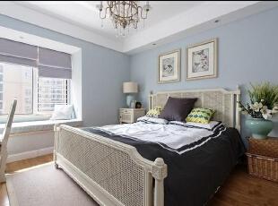 ,89平,10万,清新,两居,卧室,蓝色,