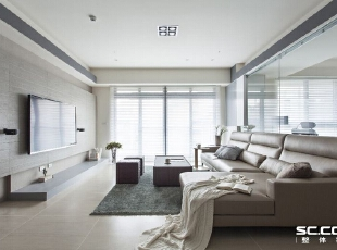 ,122平,15万,现代,三居,客厅,白色,