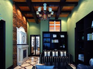 ,230平,25万,美式,复式,客厅,绿色,