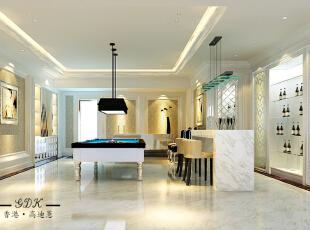 ,270平,80万,大户型,新古典,客厅,白色,