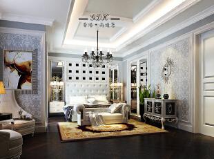 ,270平,80万,大户型,新古典,卧室,白色,