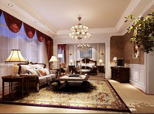 ,280平,80万,欧式,大户型,客厅,白色,