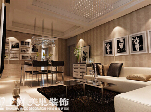 郑州祝福红城装修四室两厅155平现代简约风格客厅效果图,155平,10万,现代,四居,客厅,黄色,