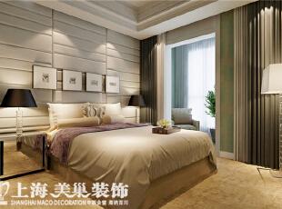 祝福红城装修155平四室两厅现代简约风格次卧效果图,温馨舒适的大床,让所有的疲惫都放下来吧,155平,10万,现代,四居,卧室,黄色,