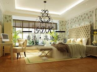 ,240平,60万,别墅,欧式,卧室,黄色,