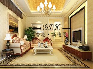 ,240平,60万,别墅,欧式,客厅,黄色,
