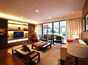 西山华府-中式三居-中式风格装修案例