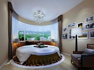 客卧是用于客人居住,休息的空间。应该以舒适,温馨。干净的原则。来营造与整体风格相结合的感觉。圆床与原始户型的完美结合,舒适又具备现代简约的风格,206平,18万,现代,别墅,