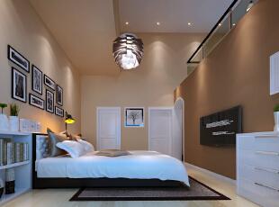 主卧室是以舒适,温馨,休息为一体的空间。尽量的多考虑主人的实习需求。空间分布合理,结合现代的多种元素。来营造与整体风格相结合的感觉。空间的合理改动与周围空间墙体完美结合,现代感强烈,206平,18万,现代,别墅,