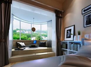 主卧的阳台,迎合主卧室的舒适,安静,加入了许多配饰的色彩。更能突显出现代风格的气息与主人的品位。着重配饰的选择,贴合原始户型上的造型。以轻装修重装饰的设计理念。与整体空间协调。,206平,18万,现代,别墅,