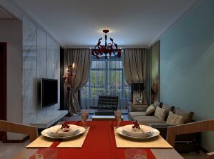 ,80平,5万,现代,两居,客厅,餐厅,简约,原木色,黑白,红色,