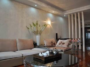 【南昌实创整体家装】-客厅现代简约设计效果图,107平,12万,现代,三居,客厅,简约,