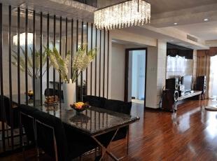 【南昌实创整体家装】-餐厅现代简约设计效果图,107平,12万,现代,三居,餐厅,客厅,简约,
