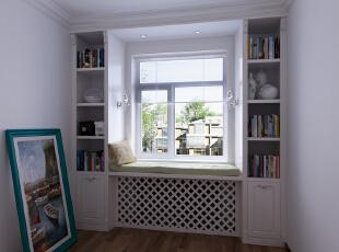 ,105平,6万,地中海,两居,卧室,书房,田园,白色,蓝色,绿色,