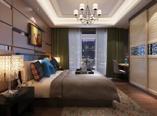 主卧室,124平,16万,现代,三居,