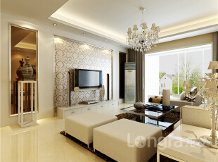 ,93平,3万,现代,两居,客厅,白色,原木色,