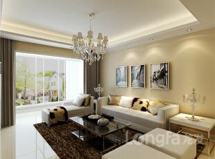 ,93平,3万,现代,两居,客厅,白色,黑白,