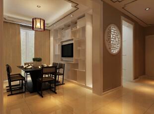 餐厅装修效果图,142平,10万,中式,三居,黄色,餐厅,
