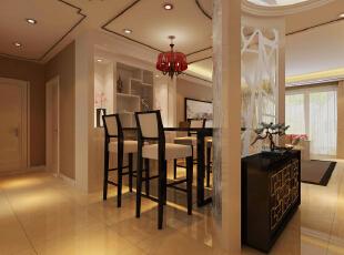 休闲区装修效果图,142平,10万,中式,三居,客厅,原木色,
