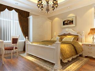 ,120平,10万,欧式,三居,卧室,白色,