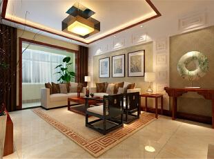 ,140平,11万,中式,三居,客厅,黄色,
